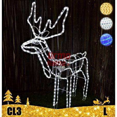 LED dekoracija 3D švečiantis elnias L CL3