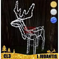 LED dekoracija 3D šviečiantis elnias L judantis CL3