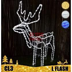 LED dekoracija 3D šviečiantis elnias L Flash CL3