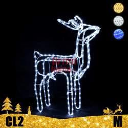 LED dekoracija 3D švečiantis elnias M CL2