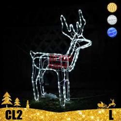 LED dekoracija 3D švečiantis elnias L CL2