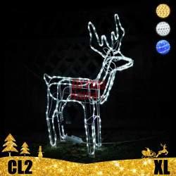 LED dekoracija 3D švečiantis elnias XL CL2
