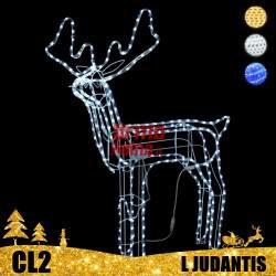 LED dekoracija 3D šviečiantis elnias L judantis CL2