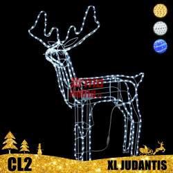 LED dekoracija 3D šviečiantis elnias XL judantis CL2