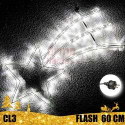 Kalėdinė LED dekoracija Krentanti Žvaigždė 60cm FLASH CL3