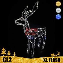 LED dekoracija 3D šviečiantis elnias XL Flash CL2