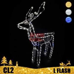 ED dekoracija 3D šviečiantis elnias L Flash CL2