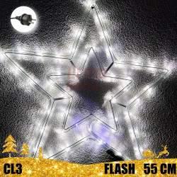 Kalėdinė LED dekoracija Žvaigždė 55cm FLASH CL3