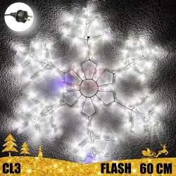 Kalėdinė LED dekoracija Snaigė 60cm FLASH CL3