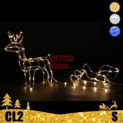 LED dekoracija 3D šviečiantis elnias su rogėmis S CL2