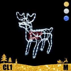 LED dekoracija 3D švečiantis elnias M CL1
