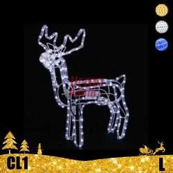 LED dekoracija 3D švečiantis elnias L CL1