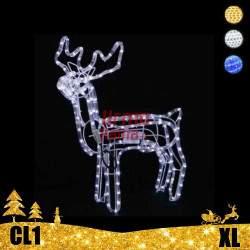 LED dekoracija 3D švečiantis elnias XL CL1
