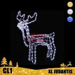 LED dekoracija 3D švečiantis elnias XL judantis CL1