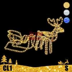 LED dekoracija 3D šviečiantis elnias su rogėmis S CL1
