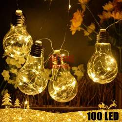 100 LED girlianda Lemputės E27