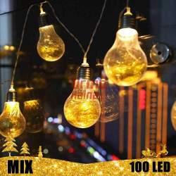 100 LED girlianda Lemputės E27 MIX
