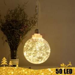 Kalėdinė 50 LED dekoracija šviečiantis rutulys 15 cm
