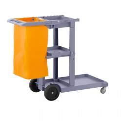 Valymo vežimėlis su skalbinių maišeliu UNICLEAN 5