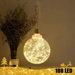 Kalėdinė 100 LED dekoracija šviečiantis rutulys 20 cm