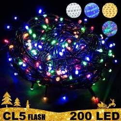 200 LED lempučių girlianda STANDART PLIUS FLASH CL5