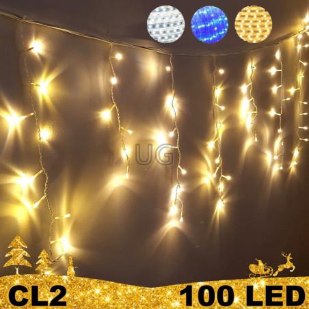 100 LED lauko girlianda varvekliai ECO CL2