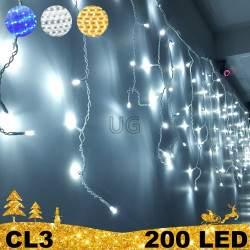 200 LED lauko girlianda varvekliai STANDART CL3