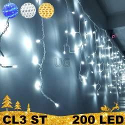 200 LED lauko girlianda varvekliai STANDART ST CL3