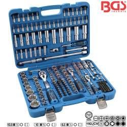 Įrankių galvučių komplektas BGS 192 dalių Super Lock