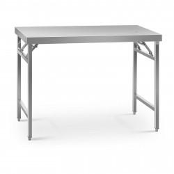 Sulankstomas darbo stalas - 60 x 120 cm - nerūdijantis plienas