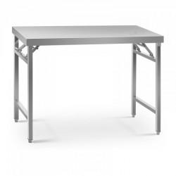Sulankstomas darbo stalas - 70 x 120 cm - nerūdijantis plienas