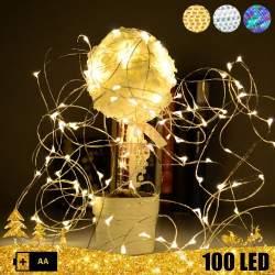 Vielinė 100 LED girlianda su baterijomis