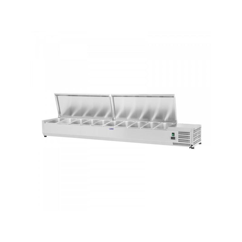 Vitrininis šaldytuvas Royal Catering 200x33 cm