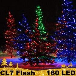 160 LED profesionali lauko girlianda PRO FLASH CL7