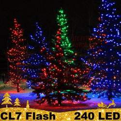 240 LED profesionali lauko girlianda PRO FLASH CL7