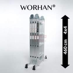 Sulankstomos daugiafunkcinės aliumininės kopėčios WORHAN 460 cm | WH4.6