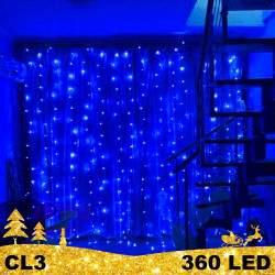 LED girlianda Užuolaida - Krioklys 360 lempučių STANDART CL3 Black