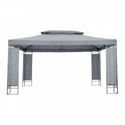 Sodo paviljonas, tamsiai pilkos spalvos  3 x 4 m