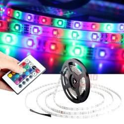 LED juostos rinkinys, 2835 RGB LED su pulteliu 5M