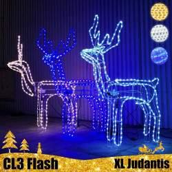 LED dekoracija 3D šviečiantis elnias XL Flash Judantis CL3
