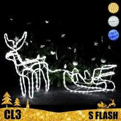 LED dekoracija 3D šviečiantis elnias su rogėmis Flash S CL3