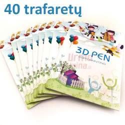 Trafaretų knygelė 3D piešiniams