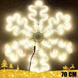 Kalėdinė LED dekoracija Snaigė Neon 70cm CL2 Multi