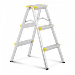 Kopėčios - 2 x 3 pakopos - aliuminis - aukštis 75 cm