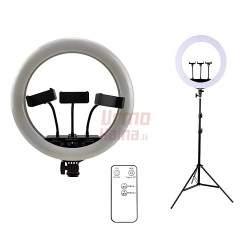 Žiedinė LED lempa LS35 100W su trikoju stovu ir pulteliu