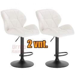 Baro kėdžių komplektas KAYA | White