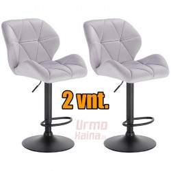 Baro kėdžių komplektas KAYA | Pilkos spalvos