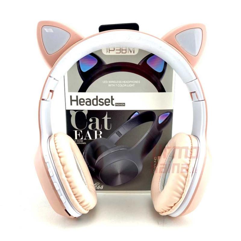 Bevielės Bluetooth ausinės P38M EAR su LED ausimis