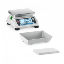 Prekybinės svarstyklės LCD015C - Su kalibravimo sertifikatu | 15 kg/5g | 2 Platformos