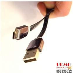 USB laidas krovimui ir duomenų perdavimui, 1 m. (DATA LINE) USB/micro USB